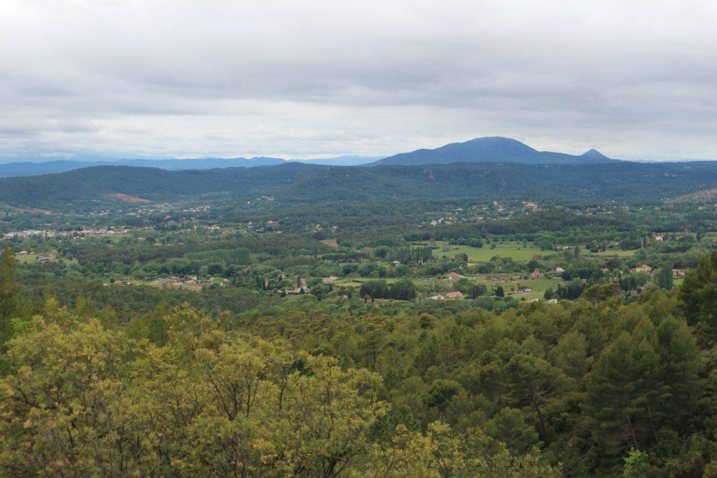 Panorama lors de notre randonnée entre Villecroze et Tourtour, deux villages au nord du Var