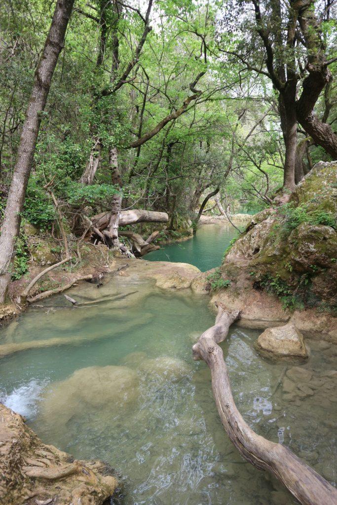Les bassins de Sillans-la-cascade dans le Var